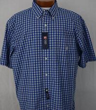 NWT Sport Shirt Chap Ralph Lauren SS Big and Tall Blue Plaid Mens New 3XB 3TG