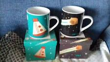 Large Space capsule &  Asteroid Mugs -brand new in box - Magpie/Jay Cosmos range