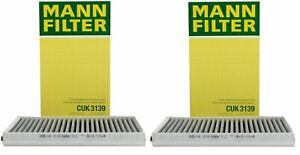 For BMW E60 E63 Set Of 2 Cabin Air Filters Activated Charcoal 64319171858 MANN