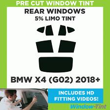 Pre Cut Window Tint - BMW X4 (G02) 2018+ - 5% Limo Rear