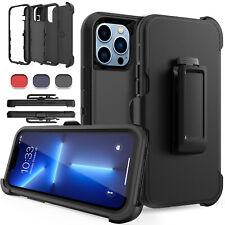 For iPhone 13 Pro Max/13 Pro/13/Mini Case Shockproof Defender Belt Clip Holster