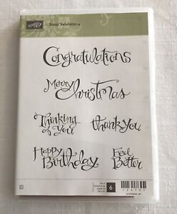 Stampin Up Sassy Salutations Clear Mount Stamps 126707