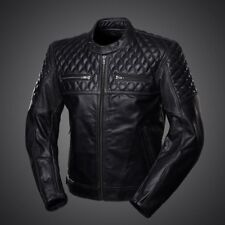 New Men's Motorcycle Racing Biker 100%Cowhide Leather Jacket All Sizes