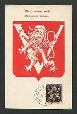 Belgio MK 1945 Stemma Leone Leone Lion maximum carta carte MAXIMUM CARD MC cm d4894