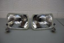 "PAIR H4 Headlights 5""x7"" 200mm Rectangular Sealed Beam Conversion Kit DOT"