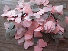 2000 bébé rose et gris coeurs/Mariage Confettis Fête Bio Throwing Décoration