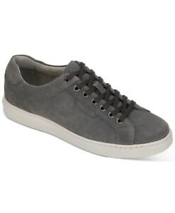 Kenneth Cole Men Lace Up Casual Sneakers Liam Sneaker Size US 11.5M Grey Suede