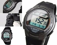 W-734-1A 60 Lap memory Casio Watches Resin Band Stopwatch Sport Brand-New