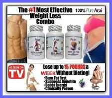 Fat Burner Detox Cleanse Diet Pills Strong Acai Weight Loss Slimming Tablets 3/-