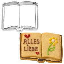 Ausstecher Ausstechform Buch Edelstahl 7,5 cm H2