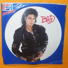 "1987 PEPSI PRESENTS MICHAEL JACKSON - BAD 12"" LP PICTURE DISC VINYL RECORD RARE"