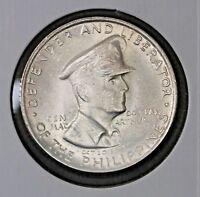 1947-S 50 Centavos Philippines Silver Coin General Douglas MacArthur 1947S