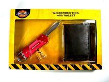 DICKIES Trifold Brown Handcrafted Wallet and WEEKENDER Tool Set New NIB $42