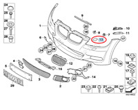 BMW 3 E93 Right Headlight Washer Cover 61677171660 7171660 2008 New Genuine