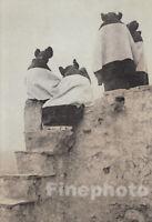 1900/72 EDWARD CURTIS Folio NATIVE AMERICAN INDIAN Hopi Girls Arizona Photo Art