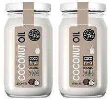2 X Organic pure raw coconut oil 350ml Cold pressed Virgin - unrefined
