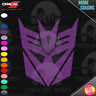 Decepticon Transformers Classic Logo Car Window PEEL N STICK VINYL DECAL STICKER