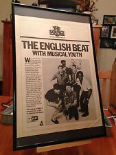 "BIG 11X17 FRAMED ENGLISH BEAT ""SPECIAL BEAT SERVICE"" LP CD RADIO SHOW PROMO AD"