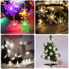 Snowflake LED String Fairy Lights Battery Operated Christmas Wedding Party Decor