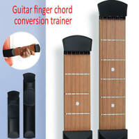NEW Portable Travel Acoustic Wooden Pocket Guitar Tool Trainer Chord Practice