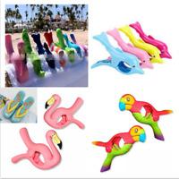2x Kunststoff Sonnenliege Strandtuch Wind Clip Sunbed Pegs Fun Dolphin Clip Sehr