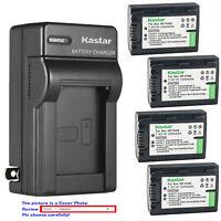 Kastar Battery Wall Charger for Sony NP-FH50 Cyber-shot HX100V DSC-HX200 HX200V