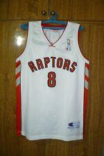 Toronto Raptors Champion NBA Jersey #8 José Calderón Basketball White Men Size L