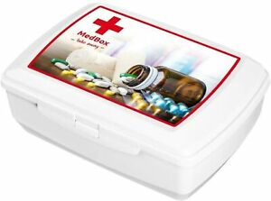 BranQ First Aid Box Emergency Case Medicine Storage Container Tablet Kit 1.3L