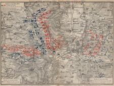 Guerre franco-prussienne. bataille de mars-la-tour borny-colombey 1870 metz 1892 carte