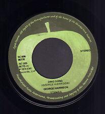 "GEORGE HARRISON - Ding Dong (1974 BEATLES APPLE LABEL DUTCH SINGLE 7"")"