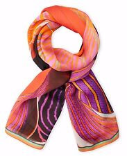 """NWT Roberto Cavalli Silk Scarf 26"""" x 70"""" Made in ITALY Multi-colored MSRP: $374"""