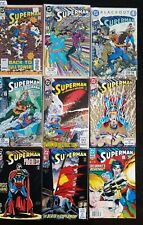 1990 LOT OF 9 SUPERMAN COMIC BOOKS, DEATH OF