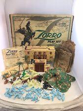 Vintage Marx Walt Disney's Zorro Playset W/ Box