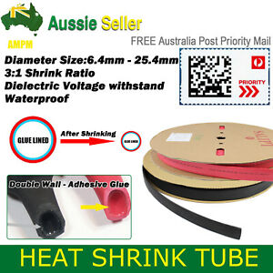 3:1 Heat Shrink Tubing Glued Inside Flame Retardant Solder Wire Joint Seal Wrap