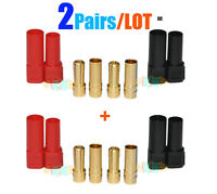 2Pairs/LOT Updated Amass XT150 Large Current 6mm Plug Black+Red for Lipo Battery