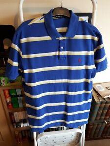 Mens Ralph Lauren polo shirt XXL - Blue striped