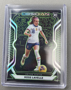 Panini Obsidian 2020-21 USA Top Prospect Rose Lavelle ROOKIE CARD /25 Green