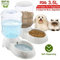 3.5L Automatic Pet Feeder Cat Dog Water Bottle Dispenser Travel Food Dish Bowl