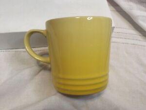 Le Creuset Stoneware Coffee Mug Cup 12oz Yellow Fade Ombre