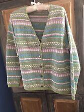 Alps Pastel Nordic Style Cardigan Size Large
