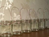 Hanging glass Copper Wire jar tea light holder lantern wedding Cute Rustic table