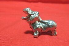Pewter Hippopotamus Hippo Figurine