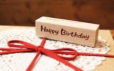 Feliz Cumpleaños De Madera Rubber Stamp Craft Scrapbook hecho a mano Regalos De Cumpleaños