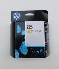 GENUINE HP 85 YELLOW ink cartridge C9427A Sep 2019 DESIGNJET 30 90 120