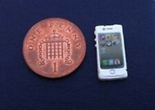 Smart Phone White, Dolls House  Miniature. 1.12th Scale