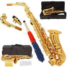 New HRSD Beginner Student Paint Gold Alto Eb Sax Saxophone w/ Case Accessories