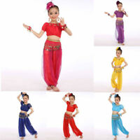 Babys Girl Belly Dance Costumes Indian Egypt Dancing Tops+Pants Clothes Suit
