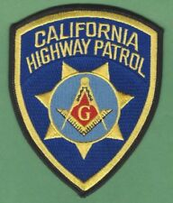 CALIFORNIA HIGHWAY PATROL CHP MASONIC POLICE PATCH