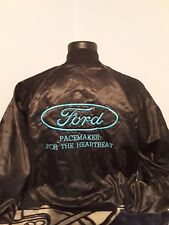 Vintage Satin Ford Jacket Size Large Made In The USA