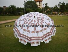 New Hand Block Print Palm Tree Garden Umbrella Ethnic Wedding Decorative Parasol